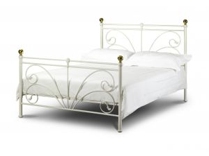 Julian Bowen Cadiz 5ft King Size Ivory Metal Bed
