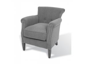 RV Astley Andrate Grey Fabric Armchair