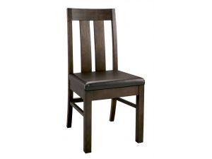 Bentley Designs Lyon Walnut Brown Leather Slatted Chairs - (Pair)