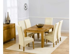 Verona 150cm Dining Table + 6 Roma Chairs Set