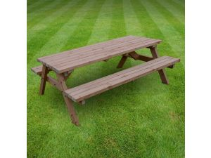 Rutland Oakham 8ft Rustic Brown Picnic Bench
