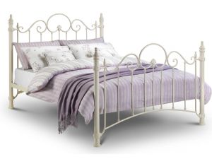 Julian Bowen Florence 5ft King Size White Metal Bed