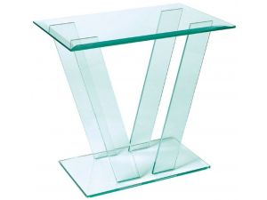 Greenapple Glass Console Table With V-Shape Base