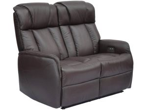 Sorrento 2 Seater Espresso Leather Electric Recliner Sofa