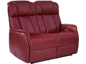 Sorrento 2 Seater Ruby Red Leather Electric Recliner Sofa