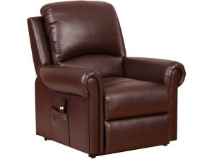 Tetbury Nut Brown Leather Recliner Armchair