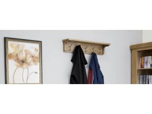 Lyon Oak Coat Rack Holder