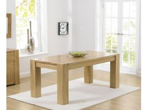 Tampa 180cm Solid Oak Rectangular Dining Table