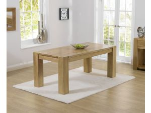 Tampa 220cm Solid Oak Rectangular Dining Table