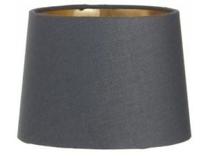RV Astley Charcoal Shade With Gold Lining 15cm clip