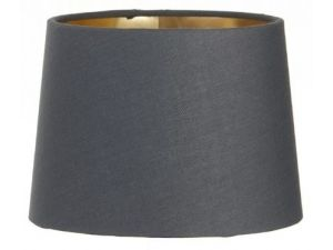 RV Astley Gold Lining Charcoal Shade 15cm with Clip