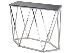 RV Astley Gallane Printed Glass Top Console Table