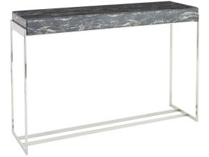 RV Astley Gianna Stainless Steel and Marble Print Console Table