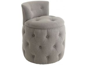 RV Astley Helm Grey Linen Mix Stool