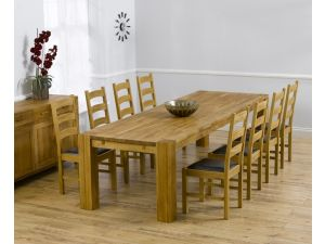 Madrid 300 Cm Ext. Dining Table + 8 Valencia Chairs