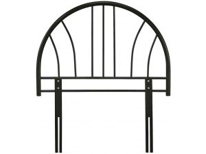 Serene Annabelle 3ft Single Black Metal Headboard
