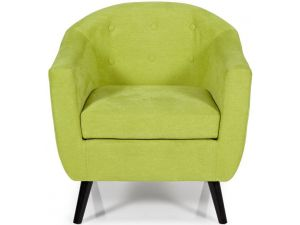 Serene Evie Green Fabric Occasional Chair