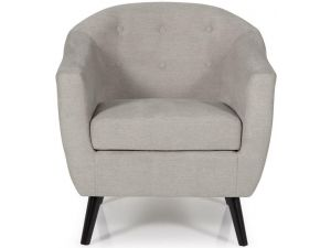 Serene Evie Grey Fabric Occasional Chair