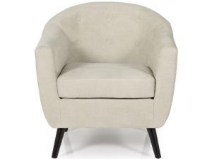 Serene Evie Mink Fabric Occasional Chair