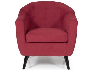 Serene Evie Red Fabric Occasional Chair