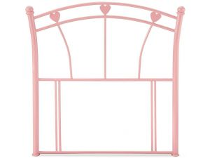Serene Jemima 3ft Single Pink Gloss Metal Headboard