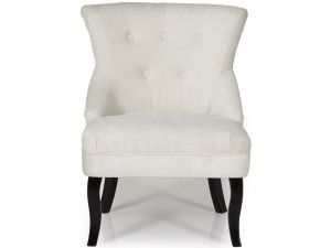 Serene Melrose Pearl Fabric Occasional Chair