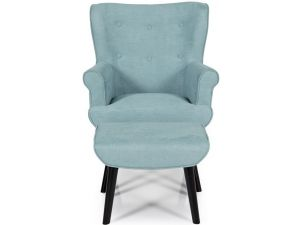 Serene Oban Duck Egg Fabric Occasional Chair