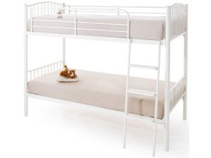 Serene Oslo 3ft Single Twin White Gloss Bunk Bed Frame