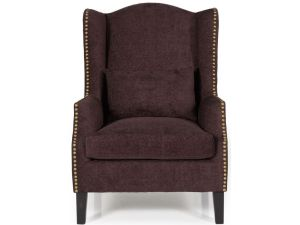 Serene Stirling Aubergine Fabric Occasional Chair