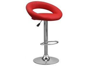 Shankar Aurora Leather Match Red Bar Stool