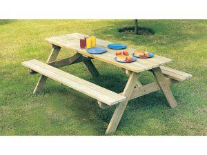 Alexander Rose Pine Childrens Wooden Picnic Table
