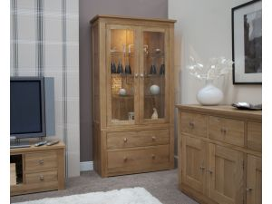 Torino Oak Glass Display Unit