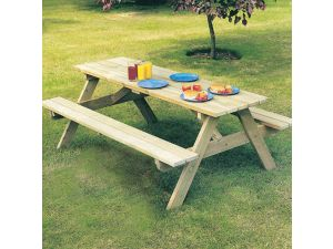 Alexander Rose Pine Woburn Picnic Table Garden Bench 6FT (FSC)