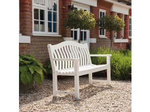 Alexander Rose White Painted 5ft Turnberry Bench