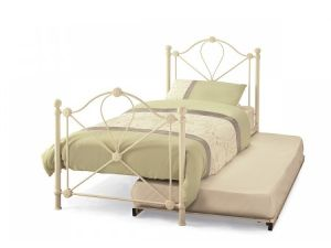 Serene Lyon 3ft Single Ivory Metal Day Bed