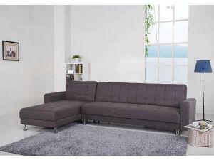 Spencer Willow Grey Corner Sofa Bed with Interchanging Chaise