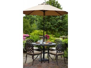 Hartman Berkeley 4 Seater Bronze Garden Set With FREE Parasol and Base