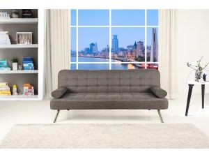 Tobi Modern Pebble Grey Fabric Sofa Bed