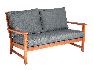 Alexander Rose Cornis Broadfield 2 Seater Wooden Lounge Sofa With Cushion