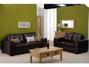 Chloe 2 Seater Brown Bonded Leather Sofa