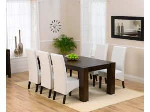 Madrid Dark 200 Cm Ext. Dining Table + 6 Verona Chairs Set