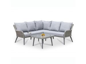 Maze Florence Grey Rattan Corner Group