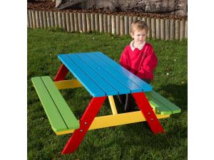 Childrens Painted A Frame Picnic Table For Age 2 to 5