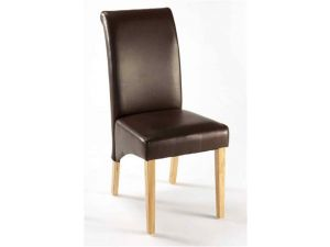 Henley Black Faux Leather KD Dining Chair