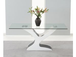 Natalie 180cm Clear Glass Dining Table