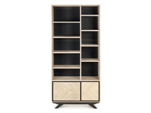 Bentley Designs Brunel Chalk Oak Display Unit