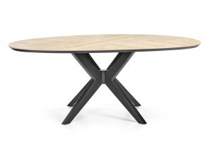Bentley Designs Brunel Chalk Oak Elliptical Dining Table