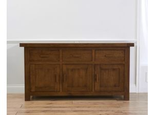 Avignon Dark Solid Oak 3 Doors And 3 Drawers Sideboard