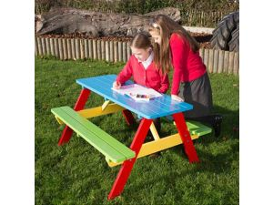 Childrens Painted A Frame Picnic Table For Age 6 to 9