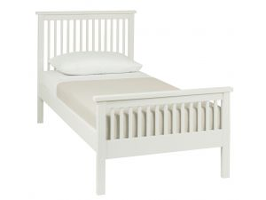 Bentley Designs Atlanta White 3ft Single High Footend Bedstead